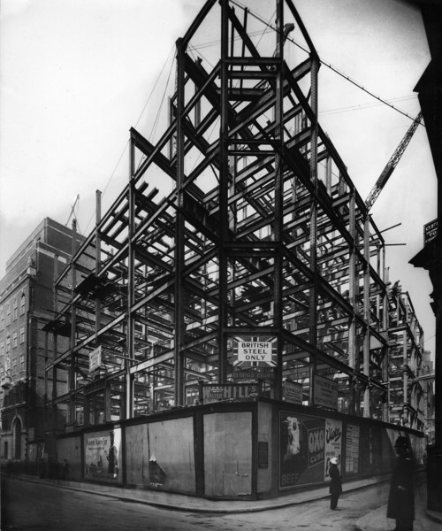 Picture of Glyn Mills' Bank, Lombard Street, London, under construction