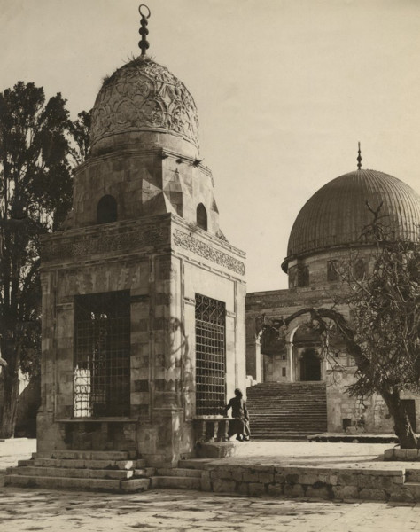 Picture of Sebil Qaitbay, Temple Mount, Jerusalem, seen from the west with the Dome of the Rock in the background