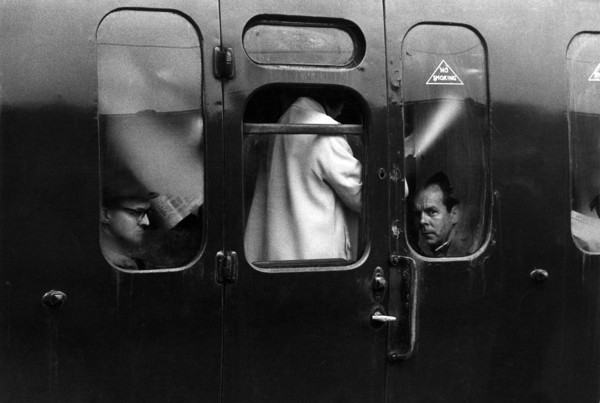 Picture of A packed train in rush hour, London