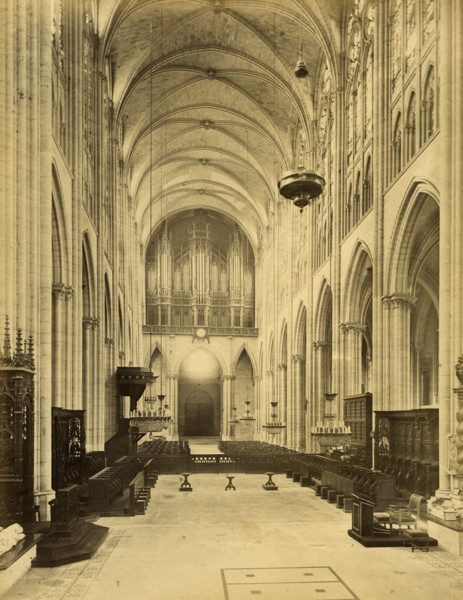 Picture of Abbey Church of St Denis, Paris: the nave seen from the choir