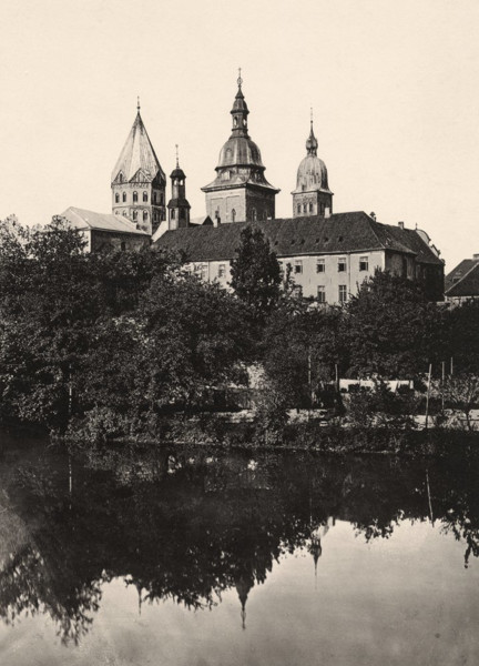 Picture of Cathedral of St Peter (Dom), Osnabruck, Lower Saxony, seen from across the River Hase