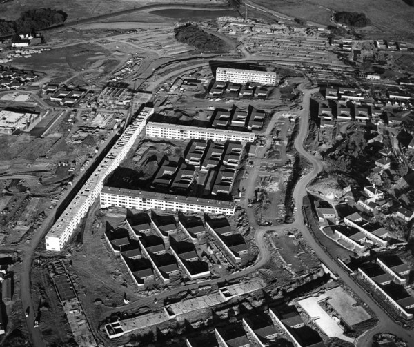 Picture of Castlefields under construction, Runcorn New Town, Cheshire