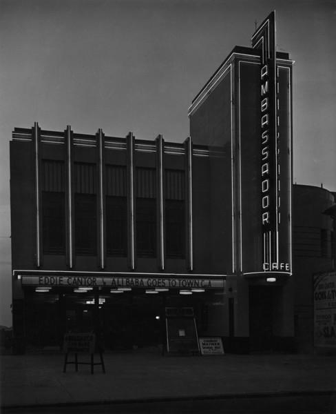 Picture of Ambassador Cinema, Regent Street, Kingswood, Bristol, at dusk