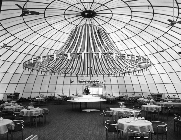 Picture of 'At Home with the Danes' exhibition, Battersea Park, London: the restaurant housed in the largest dome