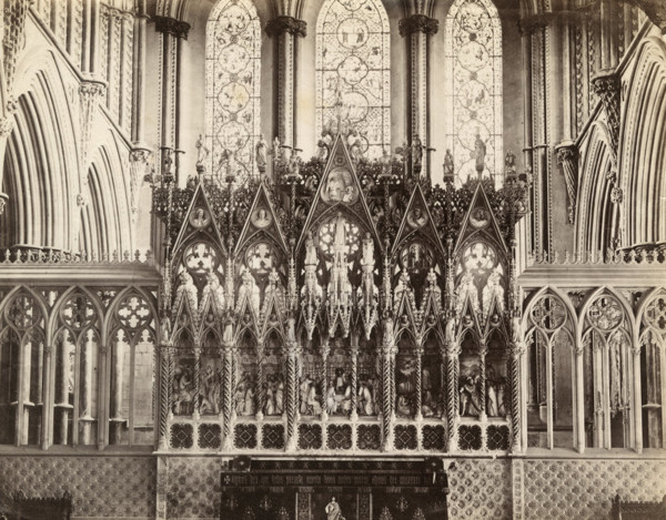 Picture of Ely Cathedral: the reredos of the high altar