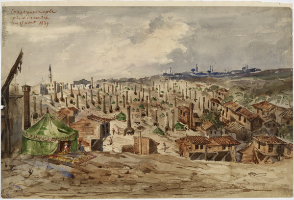 Picture of A district of Istanbul after the fire of August 15, 1833