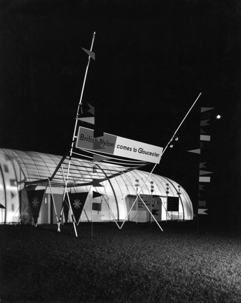 Picture of British Nylon Spinners Exhibition, Gloucester, by night