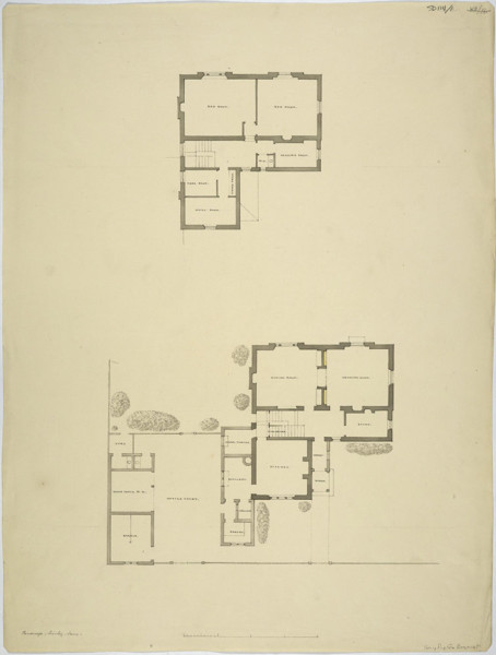 Picture of Design for a parsonage, Shirley, Croydon, London: ground floor plan