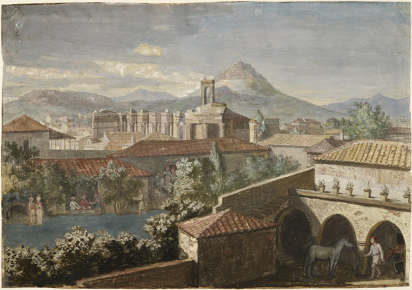 Picture of Topographical drawing of the Stoa of Hadrian (also known as the Stoa Poikile), Athens