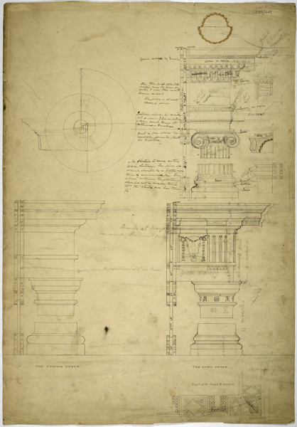 Picture of Measured drawings of orders: the Tuscan and Doric orders