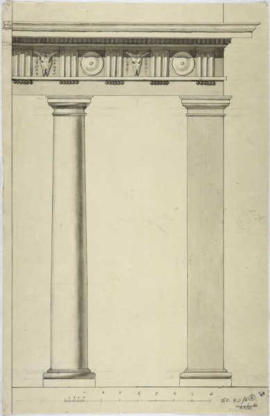 Picture of Measured drawings of details of the Doric order