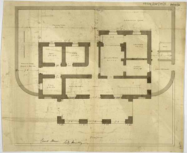 Picture of Designs for a courthouse, Huntly, Aberdeenshire: ground floor plan of Design C