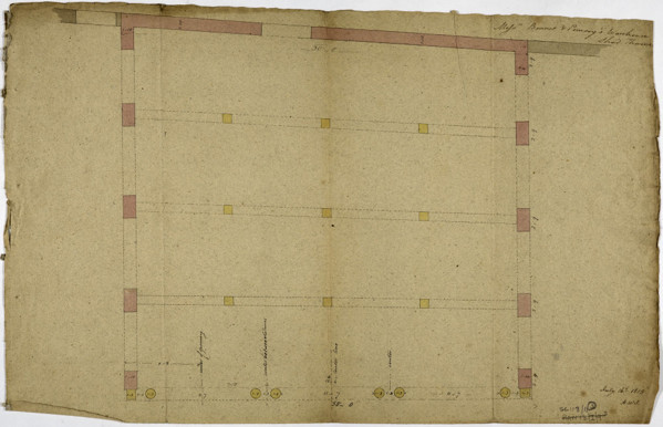 Picture of Working drawings for a warehouse for Burnet & Pomroy, Shad Thames, Bermondsey, London: interior floor plan