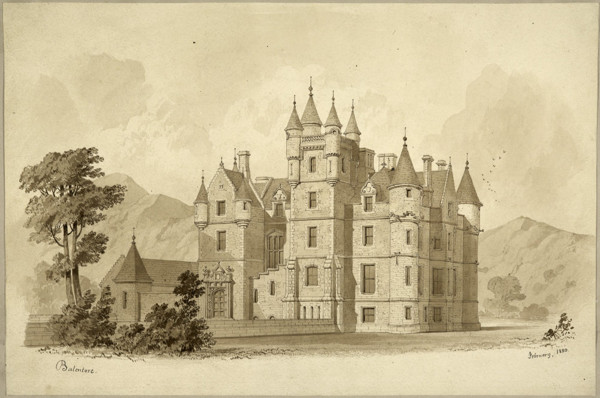 Picture of Balintore Castle, Angus: the entrance front