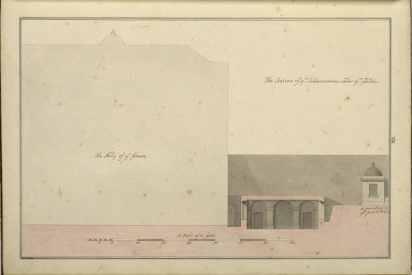 Picture of Design for 21 Arlington Street, Westminster, London: section of the basement under the garden