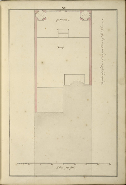Picture of Design for 21 Arlington Street, Westminster, London: plan of the garden