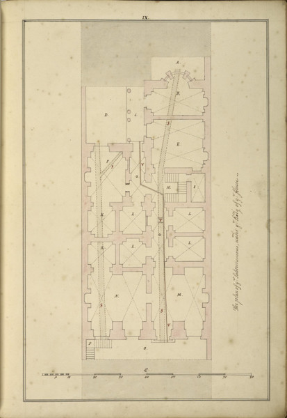 Picture of Design for 21 Arlington Street, Westminster, London: plan of the basement of the house