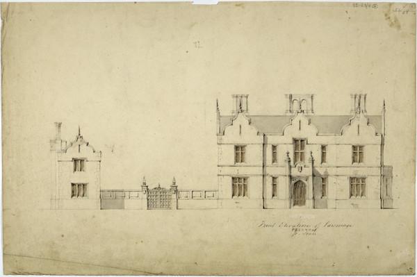 Picture of Design for a parsonage in Preston: alternative front elevation