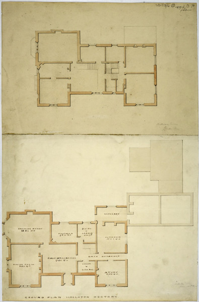 Picture of Design for a rectory in Hallaton, Leicestershire: plans of the ground and bedroom floors