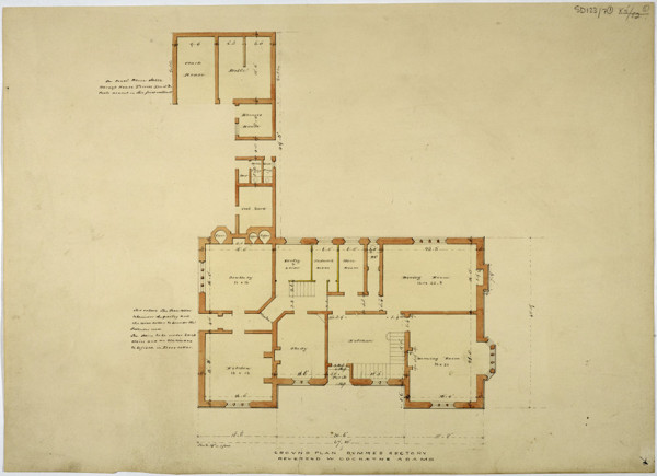 Picture of Design for a rectory in Dummer, Hampshire: the ground floor plan