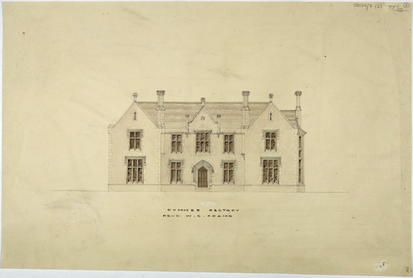 Picture of Design for a rectory in Dummer, Hampshire: the front elevation
