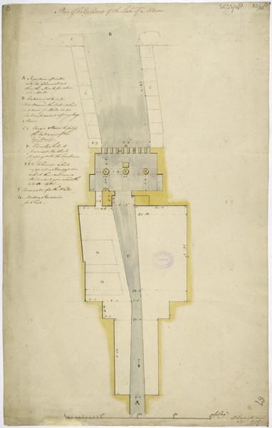 Picture of Measured drawings of the emissarium of Lake Albano, Castel Gandolfo: plan