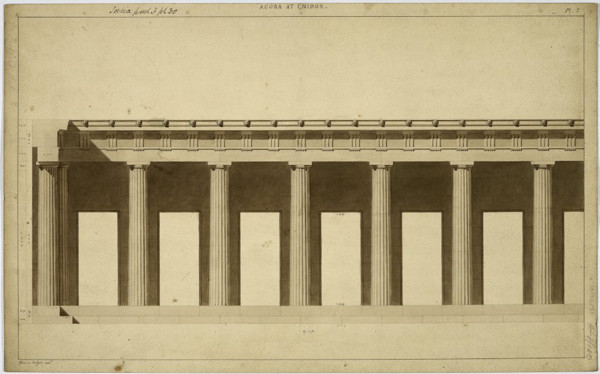 Picture of Agora, Cnidus (Knidos): partial elevation of one of the porticos