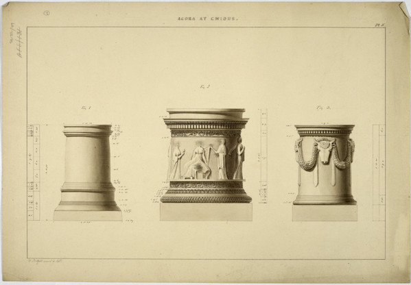 Picture of Agora, Cnidus (Knidos): details of three pedestals