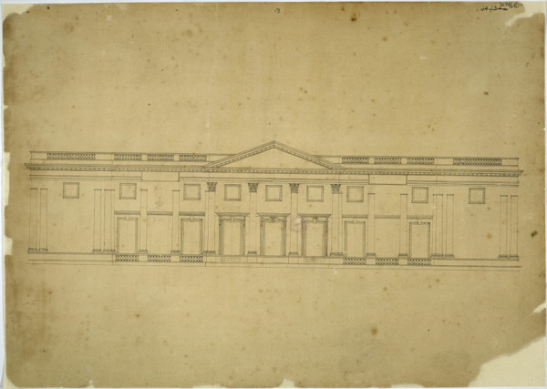 Picture of Design for a one-storey building of eleven bays: elevation