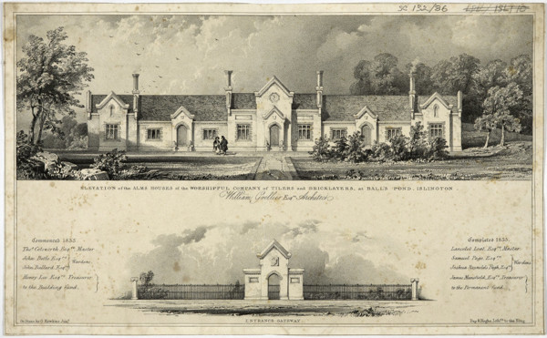 Picture of Tylers' and Bricklayers' Almshouses, King Henry's Walk, Ball's Pond Road, Islington, London