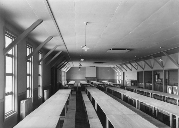 Picture of Evacuation camp, Hindhead, Surrey: the dining hall