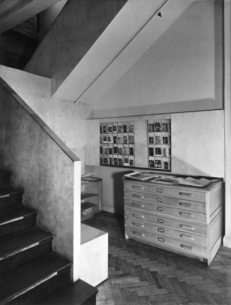 Picture of Paul and Marjorie Abbatt toy shop, 94 Wimpole Street, Westminster, London: the basement area
