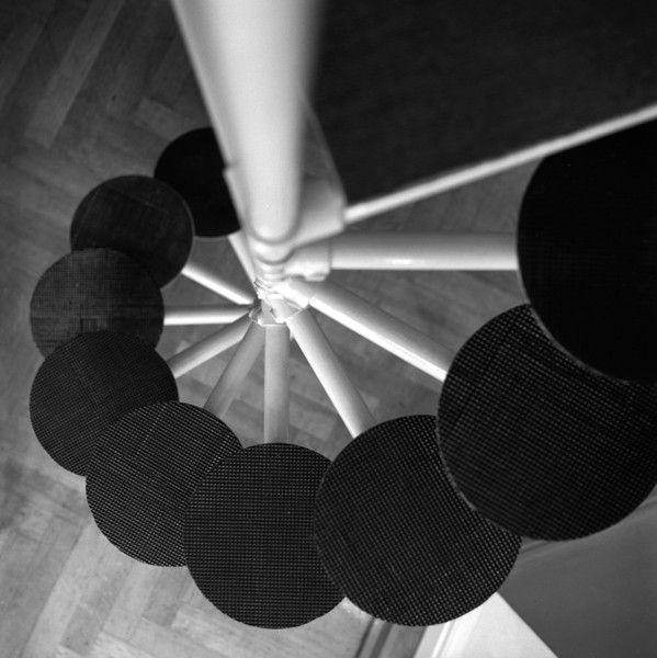 Picture of Architect's flat, 1 Addison Place, Holland Park, London: the steps of the loft frame