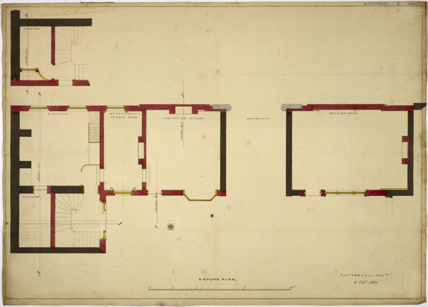 Picture of Designs for alterations to Tattersall's premises, Grosvenor Place, Belgravia, London: ground floor plan