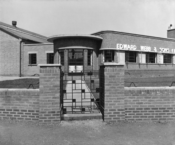 Picture of Factory for Edward Webb & Sons (Worcester) Ltd, Worcester: the entrance to the office block