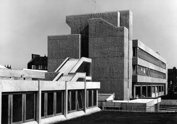 Picture of Civic Centre, Paisley (Phases 2 and 3): the police administration block and courthouse in the foreground