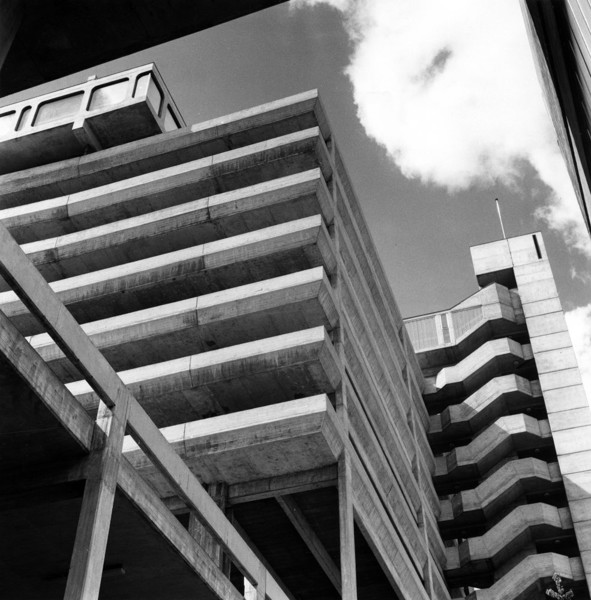 Picture of Trinity Square, Gateshead, Tyne & Wear: the car park and access tower from below