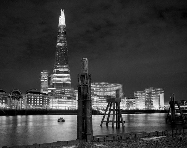 Picture of The Shard, London, seen from across the river at night