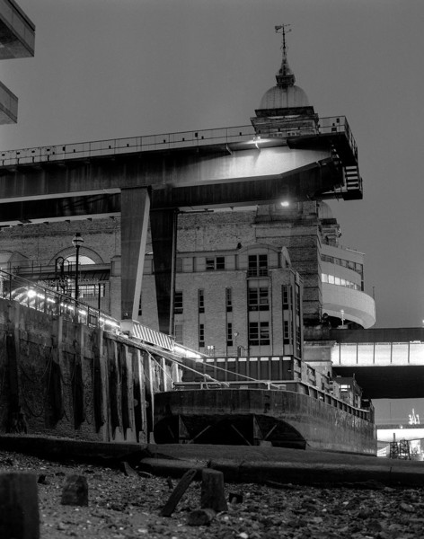 Picture of Walbrook Wharf, City of London: looking towards Cannon Street Station, at night